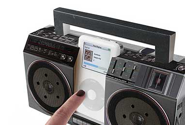 Cardboard Boom Box for Ipod