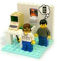 Woz and Jobs Lego Playset