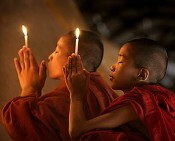 Monks In Burma