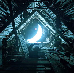 Moon in the attic