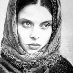 Dave Archambault's Ballpoint Pen Art Portrait of Nastassja Kinski