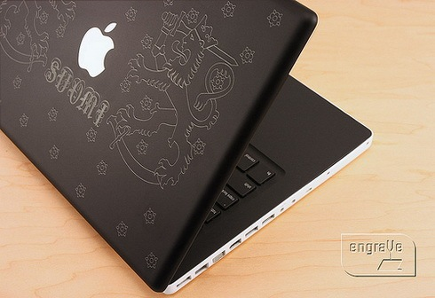 Laser Engraved Apple Macbook