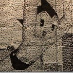 Astro Boy Mural Made From Recycled Train Tickets