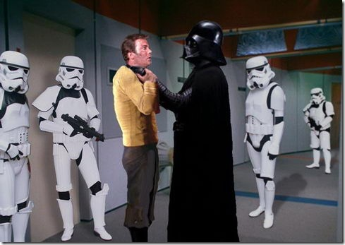 Star Wars_Star Trek_Captain Kirk_Darth Vader