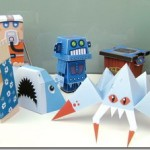 Retro Papercraft Models of Marshall Alexander
