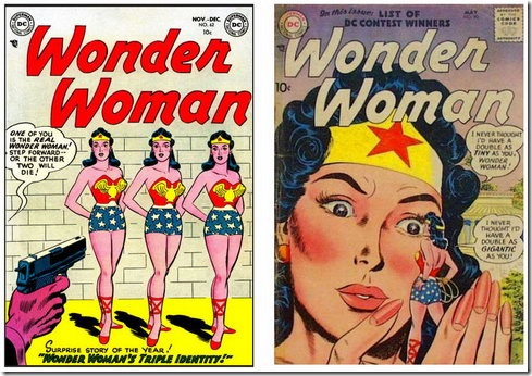 Wonder Woman Doubles Comic Book Covers