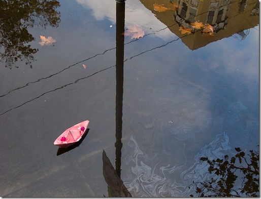 Paper Boat in the Rain - Haiku