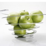 Poing Spiral Shaped Fruit Bowl