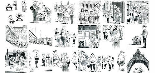 Tourists_in_Paris_Illustrations