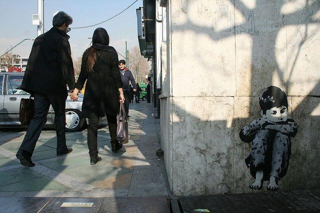 icy_Stencil_Art_Tehran_Iran