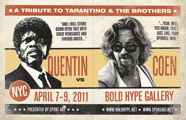 Quentin_vs._Coen_Show_Flyer_by_Greg_Gossel