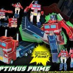 Build you own Transforming Optimus Prime Paper Robot
