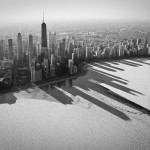 Chicago Skyline on Frozen Lake Michigan