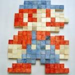 Wooden Pixel Art Mario