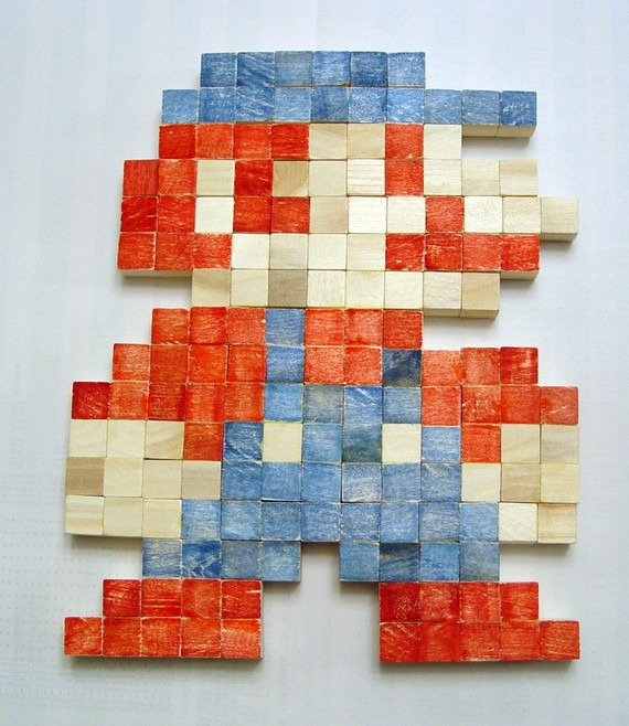 Wooden-Pixel-Art-Mario