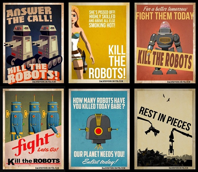Babes-vs-Robots-Game-Promo-Posters