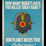 Babes vs. Robots – Retro Art Posters