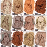 Chewbacca Sketch Cards
