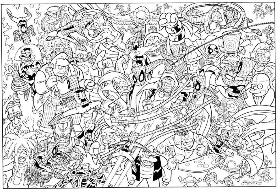 Spiderman-Simpsonized-Romita-DeCarlo-Poster