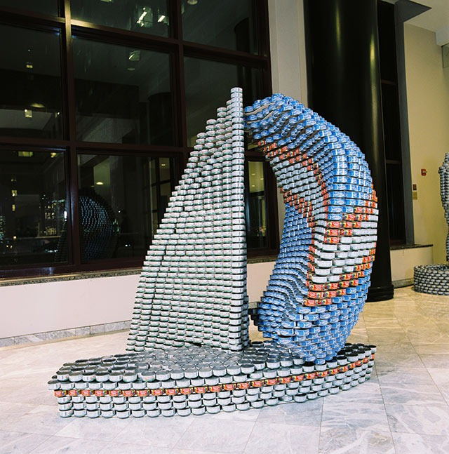 Canstruction-Sailboat