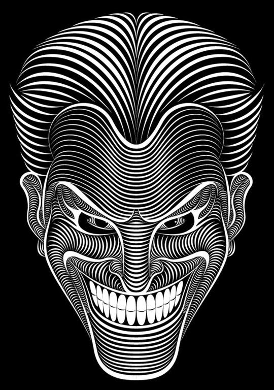 Line Art Joker : Batman versus joker digital illustrations by patrick seymour