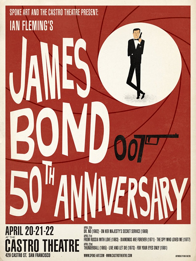 Max-Dalton-James-Bond-Spoke-Art-Castro-Theatre-Poster