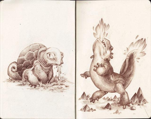 Squirtle-and-Charmander-Laura-Bifano