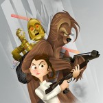 Leia and Chewie – Star Wars Art by Dave Mott