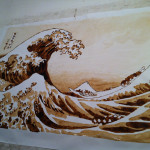 """The Great Wave"" Painted Using Coke"