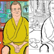 A Bill Murray Coloring Book for Grown-ups (and Maybe Kids, Too)