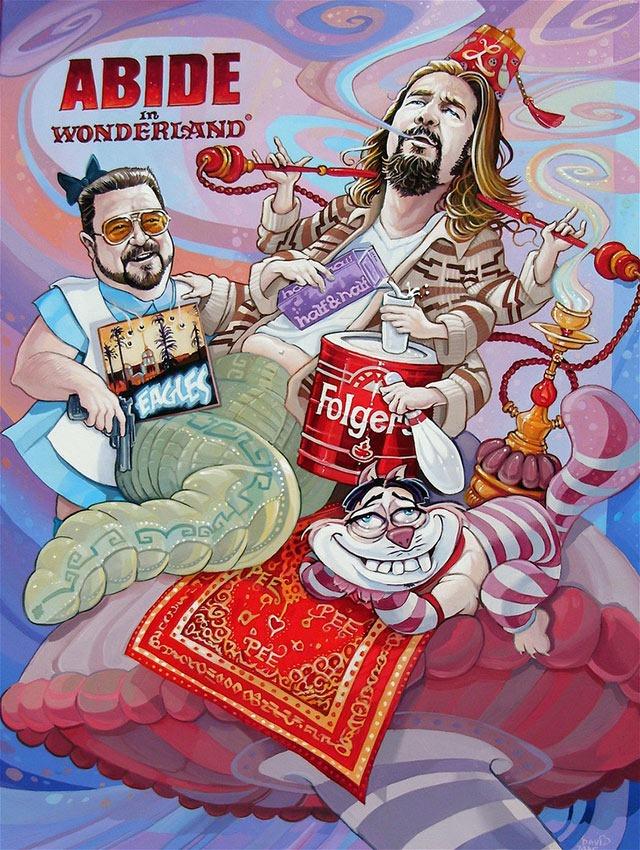 "Dave MacDowell's ""Abide in Wonderland"" Painting"