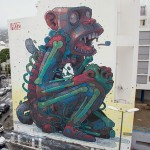 'Monkey Business' – A Huge Street Art Mural by Aryz