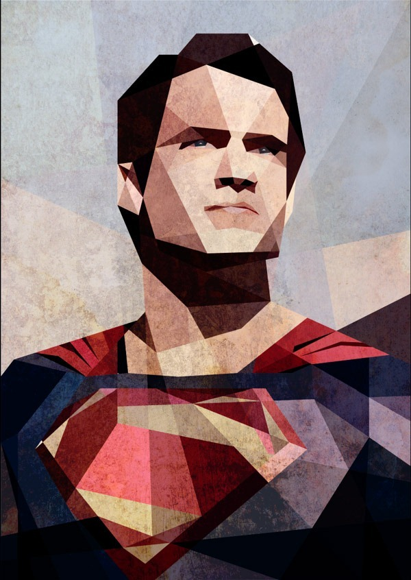 Man-of-Steel---Cubism-Art-by-Luis-Huertas
