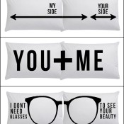 Minimalist Pillowcases Printed With Cute Messages