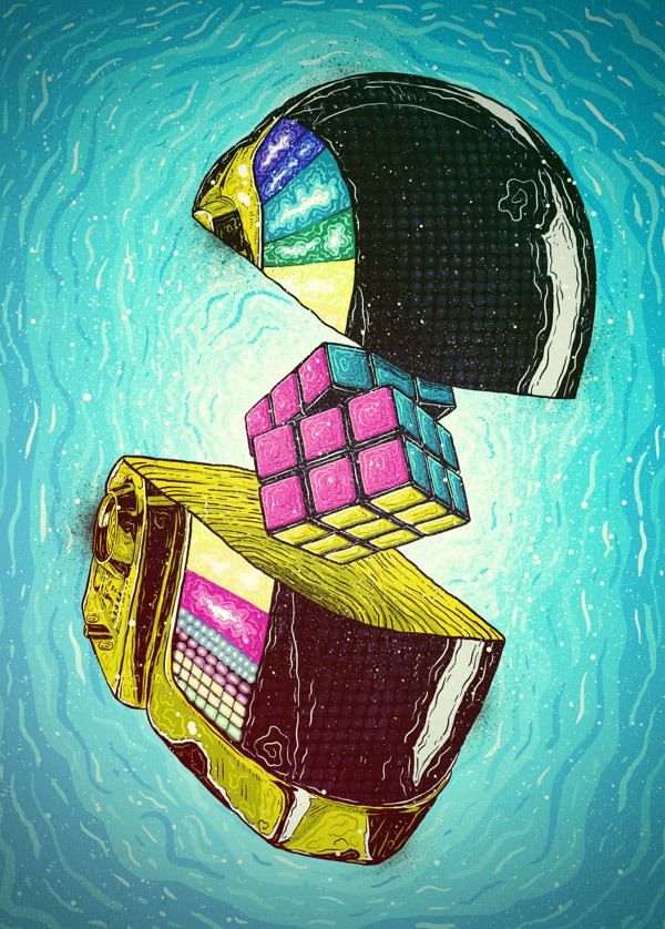Illustrations-by-Brazilian-Artist-Bruno-Miranda-Daft-Punk