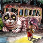 Meow! Parody Prints of Grumpy Cat and Lil Bub as Catbus