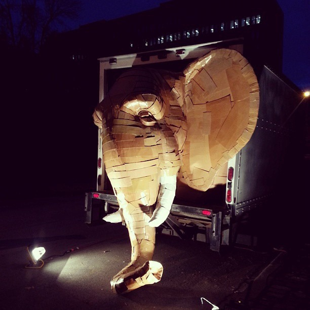 Laurence-Vallieres-Cardboard Elephant-01