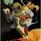 Boba Fett Themed Art Prints by Jonathan Bergeron