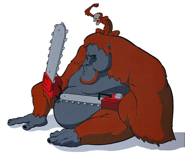 Eric_pause_chainsaw_animals_orangutan