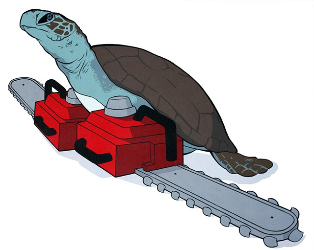 Eric_pause_chainsaw_animals_sea_turtle