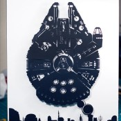 Millennium Falcon Over Mos Eisley - 3D Papercraft by Will Pigg