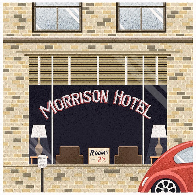 Morrison-Hotel-inspired-by-The-Doors-album-for-gallery-1988-(LA)-Maria-Suarez-Inclan