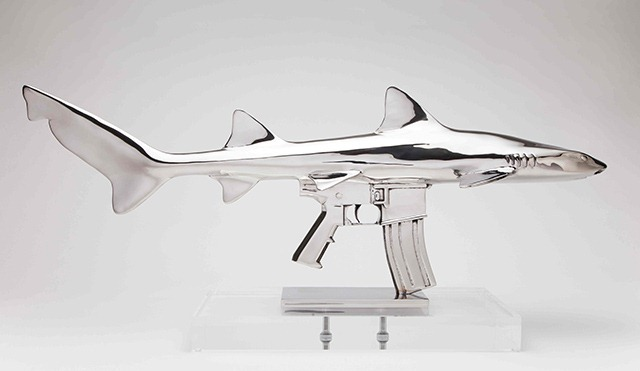 Shark-Gun-stainless-steel-sculptures-by-Chris-Schulz-Leopard-AR_2