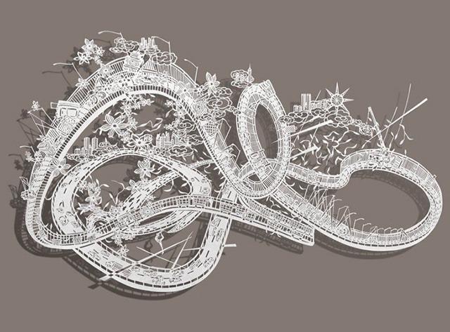 Bovey-Lee-Ribbon-Dancer-Cut-Paper-Artwork