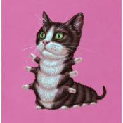 """Tuxedo Cat,"" A Surreal Print by Casey Jones"