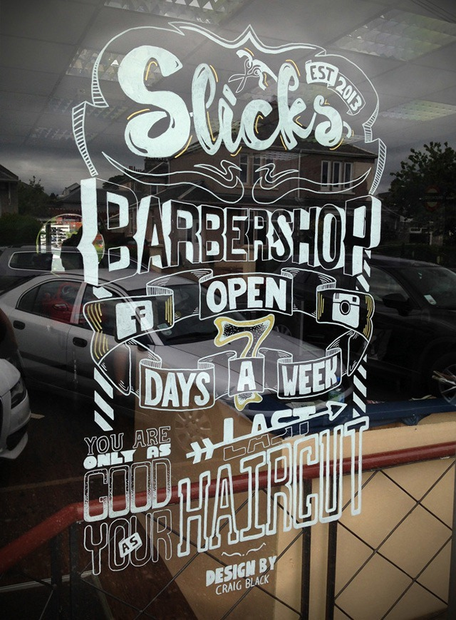 Craig-Black-Window-Art-Typography-Barbershop-Grooming