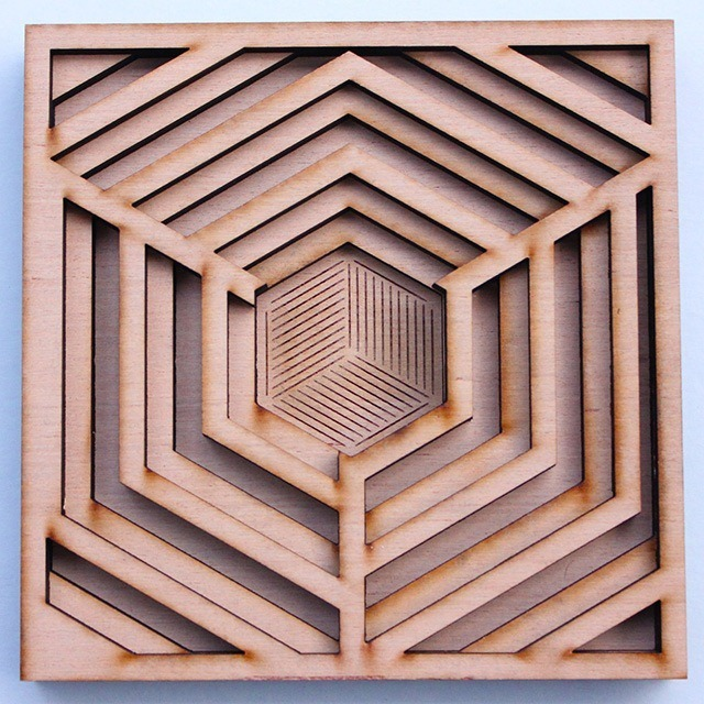 Laser Cut Wood Art by Ben James 01