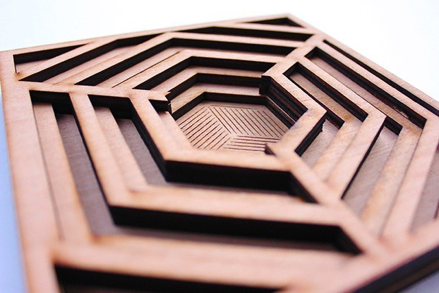Laser Cut Wood Art by Ben James 02