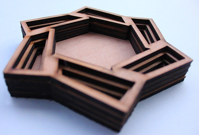 Laser Cut Wood Art by Ben James 08