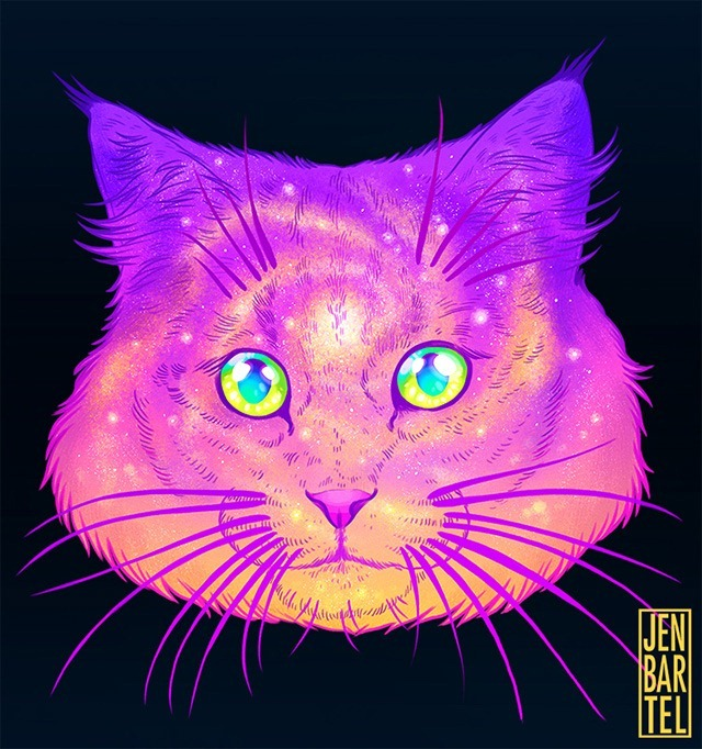 Galactic-Cats-Illustrations-by-Jen-Bartel-01